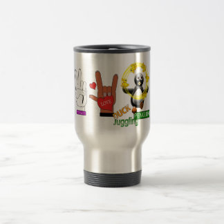Peace Love DUCK Juggling PENGUIN png Coffee Mugs