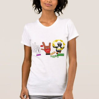 Peace Love DUCK Juggling PENGUIN.png Shirt