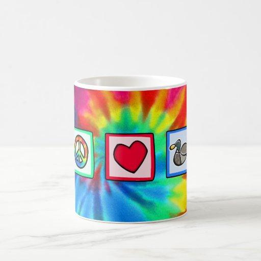 Peace, Love, Ducks Coffee Mugs