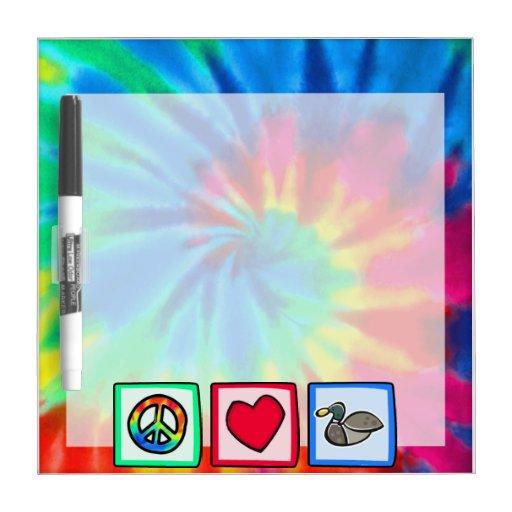 Peace, Love, Ducks Dry-Erase Boards