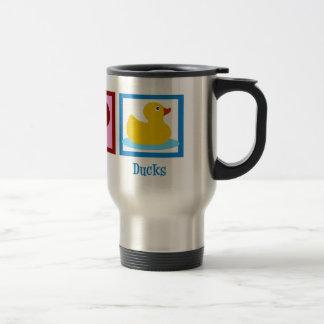 Peace Love Ducks 15 Oz Stainless Steel Travel Mug