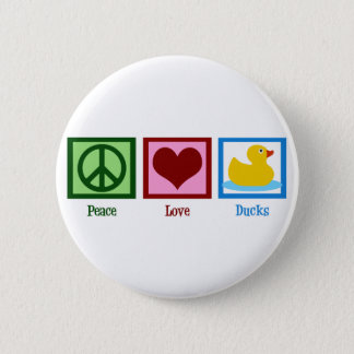 Peace Love Ducks Pinback Button