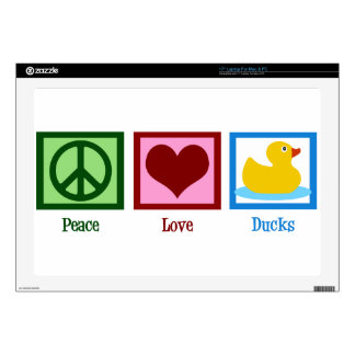 "Peace Love Ducks Skin For 17"" Laptop"