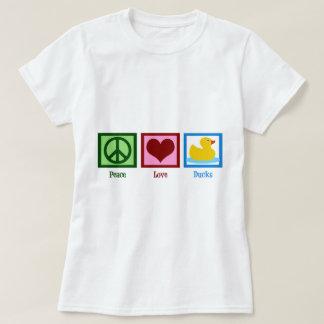 Peace Love Ducks T Shirt