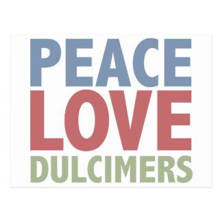 Peace Love Dulcimers Postcard