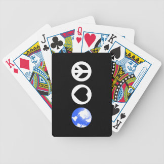 Peace Love Earth Bicycle Playing Cards