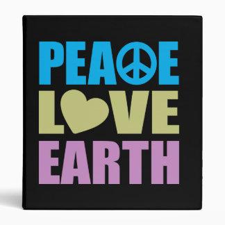 Peace Love Earth Binder