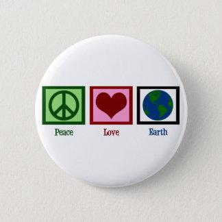 Peace Love Earth Button