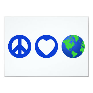 Peace Love Earth Card