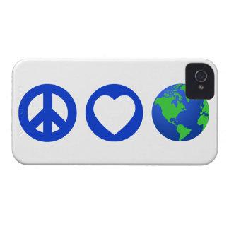 Peace Love Earth Case-Mate iPhone 4 Case