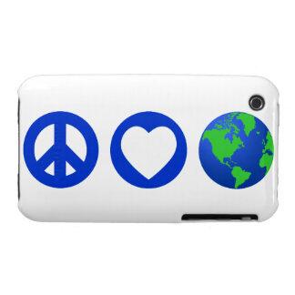 Peace Love Earth iPhone 3 Cover