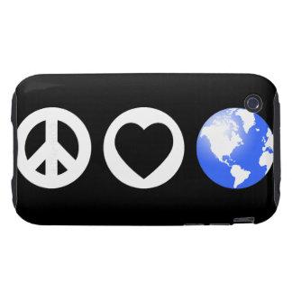 Peace Love Earth iPhone 3 Tough Cover