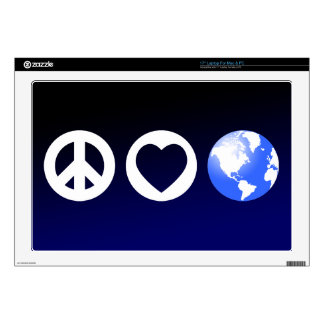 Peace Love Earth Laptop Decal
