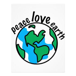 Peace Love Earth Letterhead