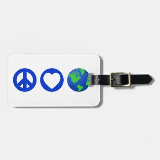 Peace Love Earth Luggage Tag