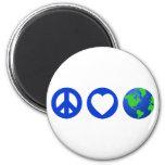 Peace Love Earth Magnets