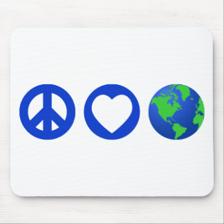 Peace Love Earth Mouse Pad