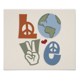 Peace Love Earth Poster Print