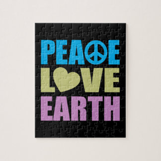 Peace Love Earth Jigsaw Puzzle
