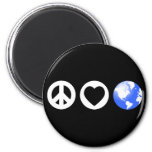 Peace Love Earth Refrigerator Magnets