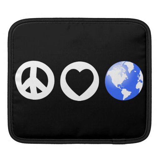 Peace Love Earth Sleeves For iPads