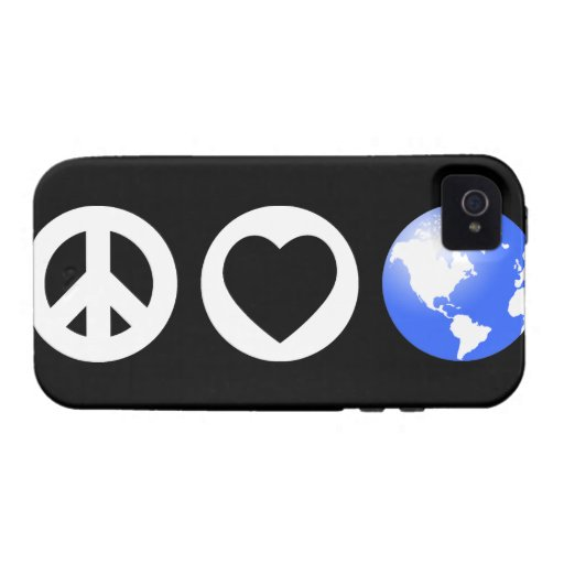 Peace Love Earth Vibe iPhone 4 Cases