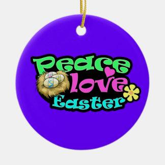 Peace, Love, Easter Christmas Tree Ornament