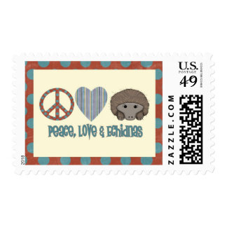 Peace Love Echidnas Stamps