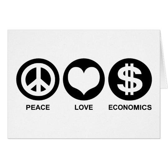 Peace Love Economics Card