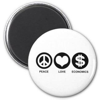 Peace Love Economics Magnet