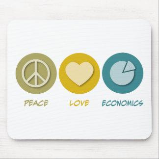 Peace Love Economics Mouse Pad