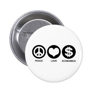 Peace Love Economics Pinback Button