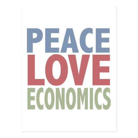 Peace Love Economics Postcard
