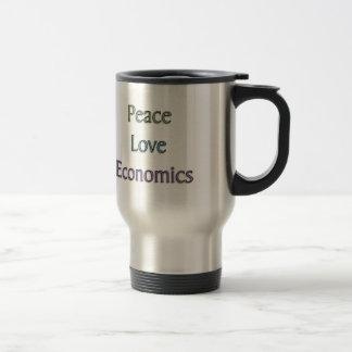 Peace, Love, Economics Travel Mug
