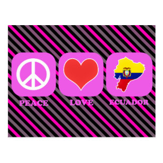 Peace Love Ecuador Postcard