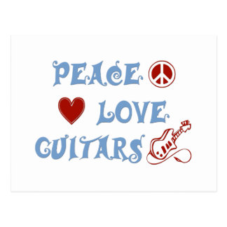 Peace Love Electric Guitars Post Card