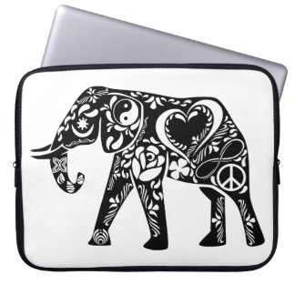 Peace Love Elephant Computer Sleeve
