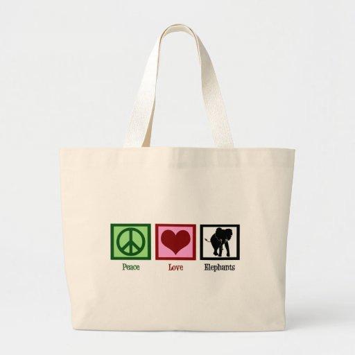 Peace Love Elephants Bags