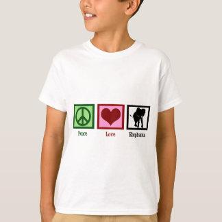 Peace Love Elephants Kids T-Shirt
