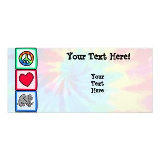Peace, Love, Elephants Rack Card