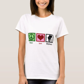 Peace Love Elephants T-Shirt