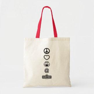 Peace Love Elmo Bags