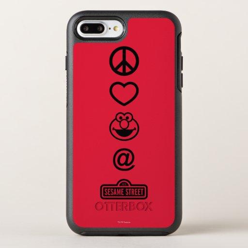 Peace Love Elmo OtterBox Symmetry iPhone 8 Plus/7 Plus Case