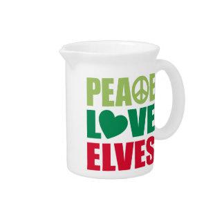 Peace Love Elves Beverage Pitchers