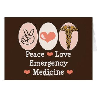 Peace Love Emergency Medicine Greeting Card