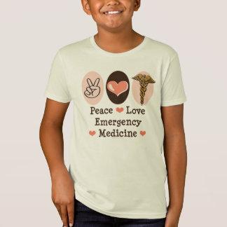 Peace Love Emergency Medicine Kids Organic Tshirt