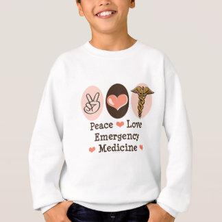 Peace Love Emergency Medicine Kids Sweatshirt