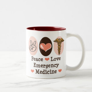 Peace Love Emergency Medicine Mug