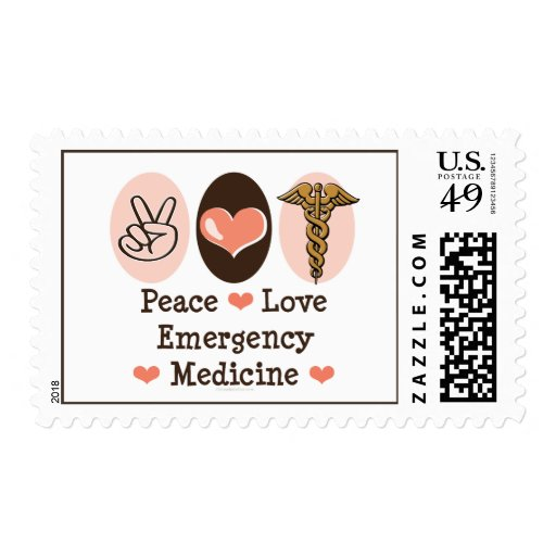 Peace Love Emergency Medicine Stamps