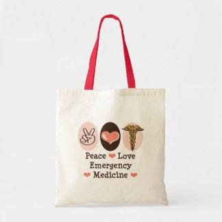 Peace Love Emergency Medicine Tote Bag